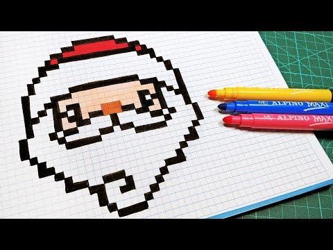 Pixel Art Mario Pere Noel