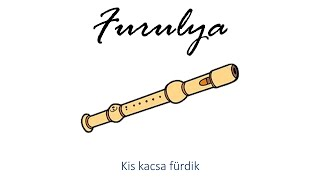 Hangszer ovi - Kis kacsa fürdik (furulya) / Hungarian folk children song with animals