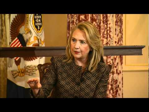 Secretary Clinton Answers Questions During a Global Town Hall With Civil Society