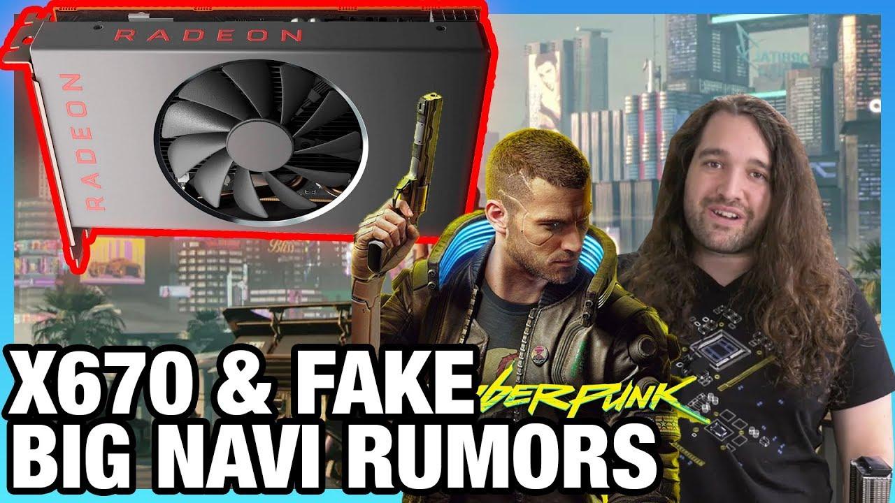 HW News - X670 Chipset Production, False AMD Big Navi Rumors, Cyberpunk 2077 thumbnail