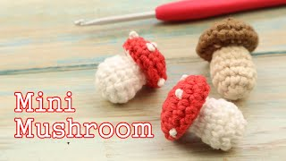 Another mini vegetable to crochet today! A tiny Agaric mushroom, although you can easily scale this pattern up by using thicker yarn and a bigger hook. I hope ...