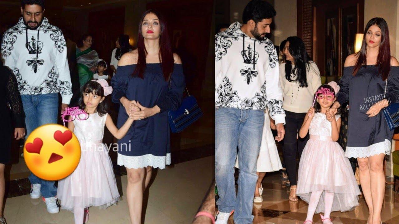 Birthday Girl Aradhya Bachchan parties with family in Juhu   Execpt Dadi Jaya Bachchan?
