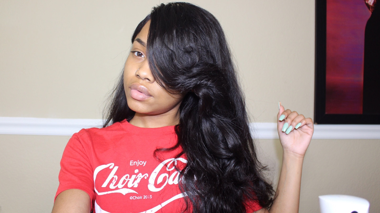 how to cut a poppin swoop bang | yolissa hair body wave