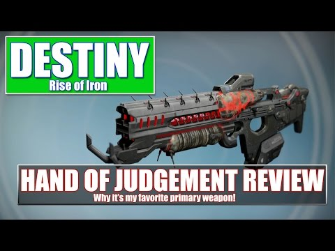 Destiny Hand of Judgment Review - Scout Rifle Greatness!