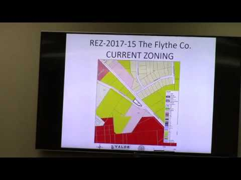8. REZ-2017-15  Flythe Company  3885 Old U.S. HWY 41 -0.46 acres from E-A to C-G