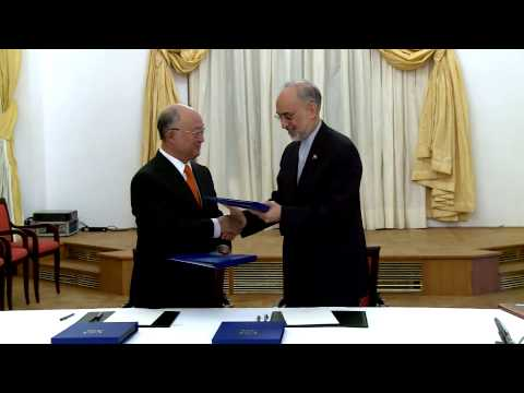 IAEA and Iran Sign Road-Map Agreement in Vienna (Austria)