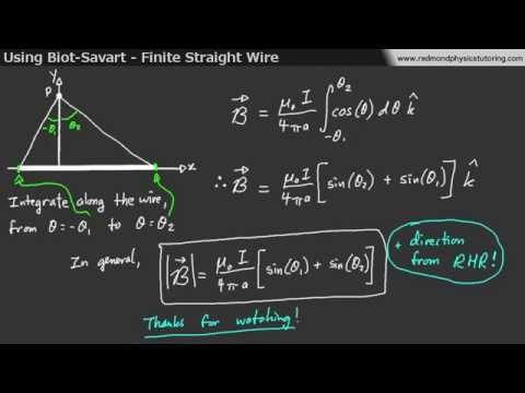 Using Biot-Savart to Find the Magnetic Field from a Finite Wire