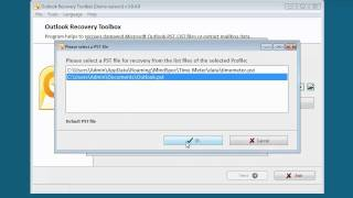 Outlook Recovery Toolbox video demo