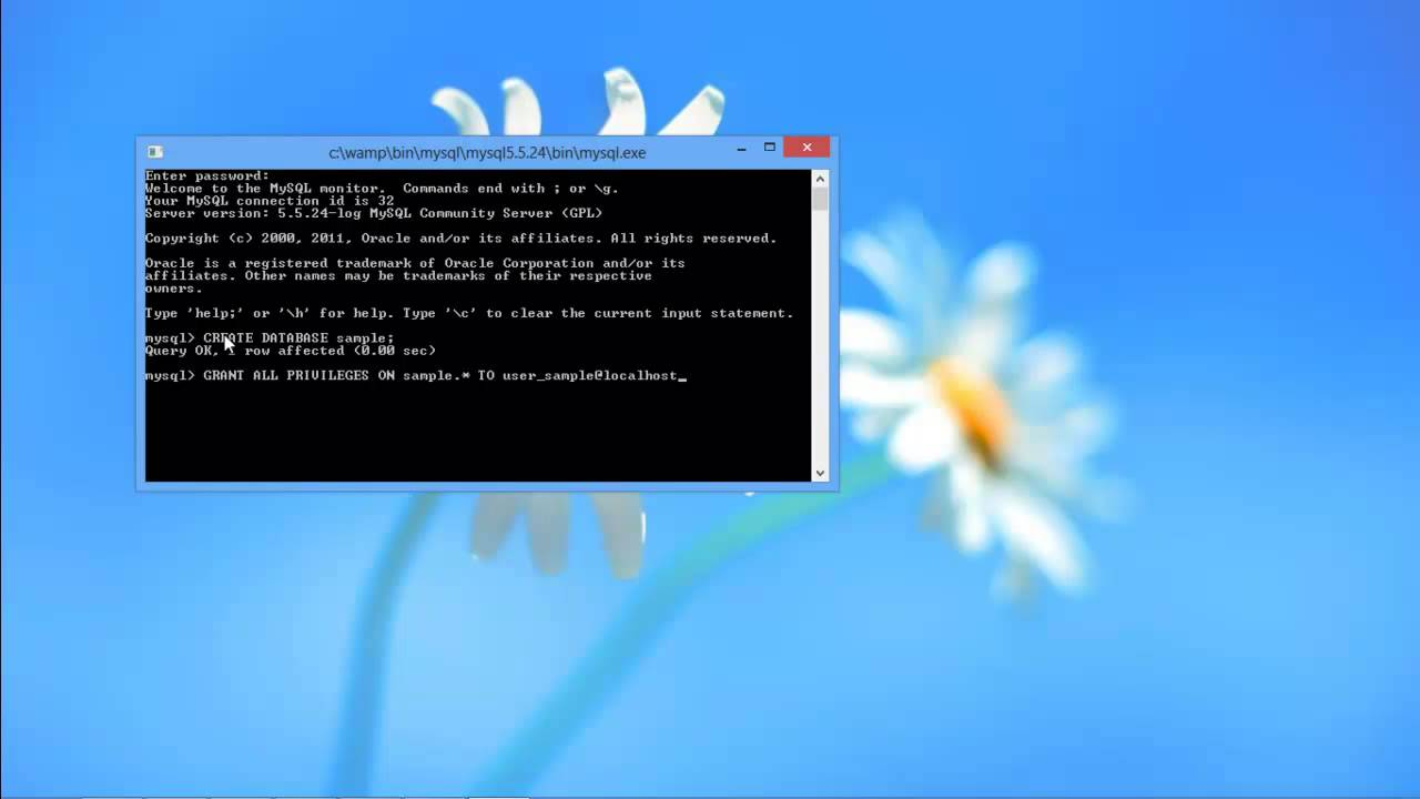 Create Mysql Database Viamand Line