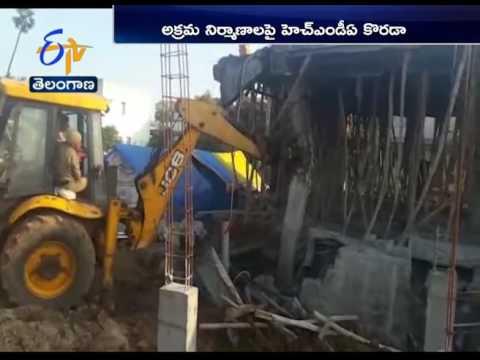 Demolition Of Illegal Layouts By HMDA In Ghatkesar