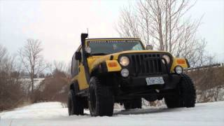 Jeep Mud Tires in Snow
