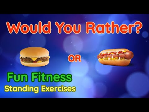 Would You Rather? WORKOUT At Home Kids Fun Fitness Activity Physical Education Standing