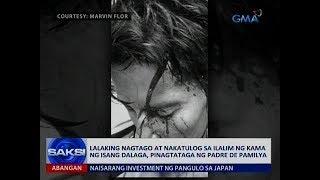 Lalaking nagtago at nakatulog sa ilalim ng kama ng isang dalaga, pinagtataga ng padre de pamilya