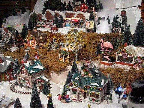 Department 56 Christmas Village Display.Department 56 Original Snow Village Series Display Video
