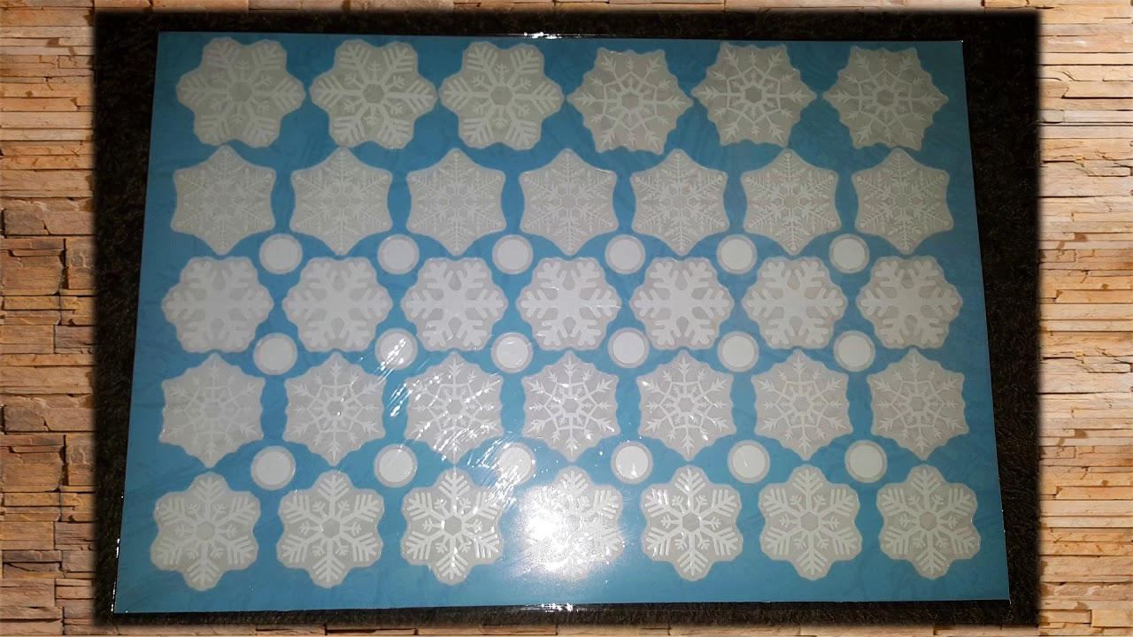 Product Review Pcs Snowflakes Window Clings Christmas - Snowflake window stickers amazon