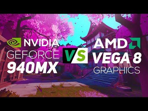 Nvidia Geforce 940mx Vs Amd Vega 8 Graphics 2018 Gaming Test Youtube