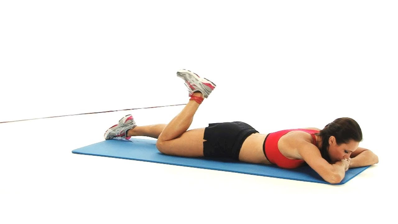 Hamstring Curl With Band In Prone Youtube