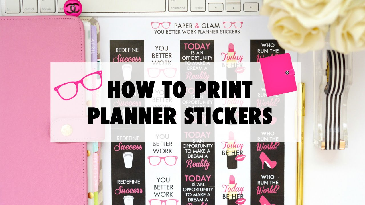 How to print planner stickers youtube