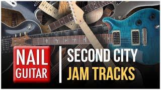 A - Blues Guitar Jam Track - 'Second City'