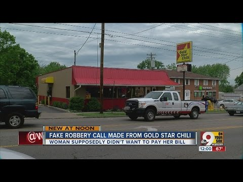 Woman calls 911 to report fake armed robbery after delaying payment of Gold Star Chili bill