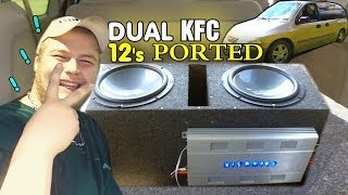 Kenwood KFC Subs on Hifonics TITAN 1500 | Dual 12