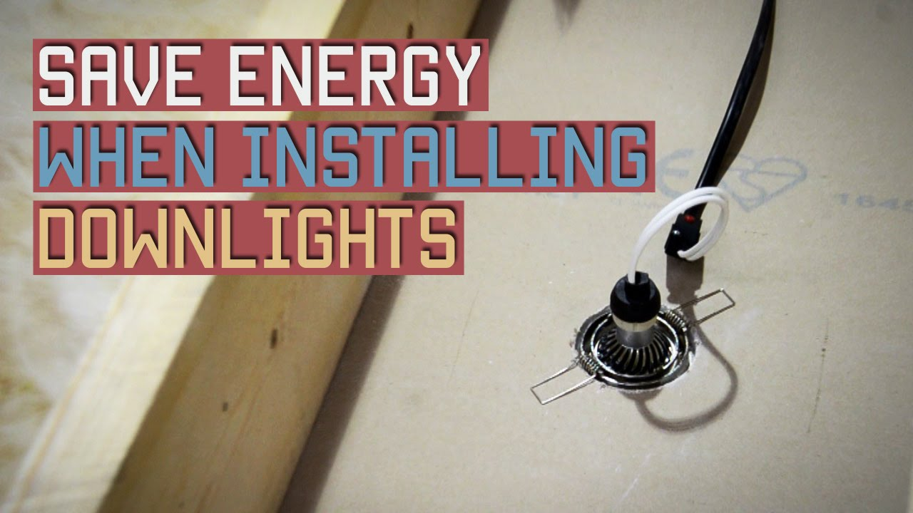 how to install recessed lighting how to install downlights rh youtube com recessed lighting wiring diagram bathroom downlights [ 1280 x 720 Pixel ]