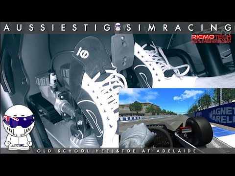AussieStig Heel & Toe with Ricmotech Real Gear Pro Pedals by SimRacing with  AussieStig
