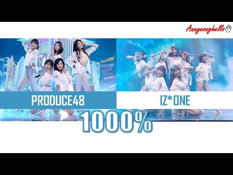 1000% ♬  - Produce48 VS IZONE(아이즈원)  Comparison + Split Audio