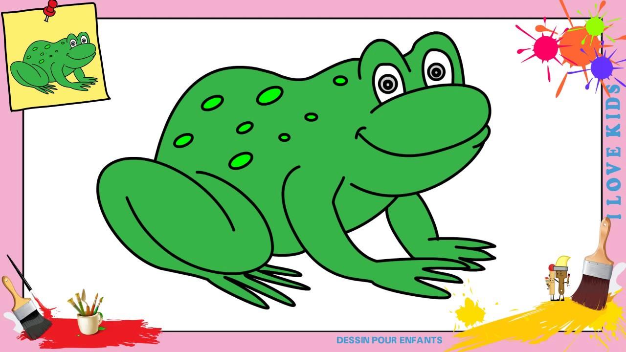 Dessin grenouille FACILE 6 - Comment dessiner une grenouille FACILEMENT  etape par etape