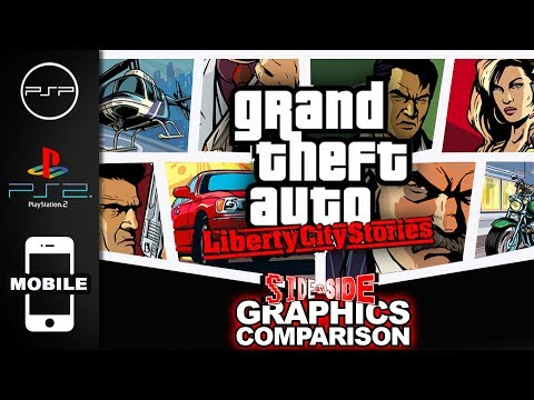Grand Theft Auto Liberty City Stories | Graphics Comparison | ( PSP , PS2 , Mobile )