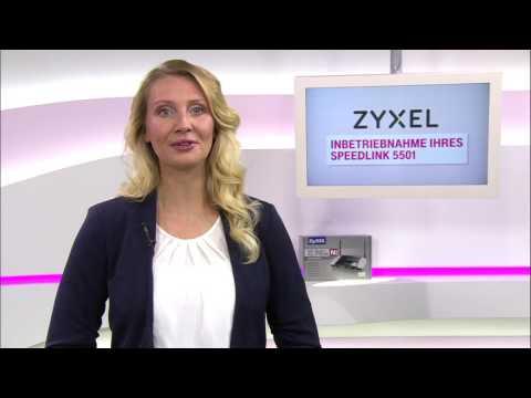 Social Media Post: Telekom: Einrichtung u. Inbetriebnahme Zyxel Speedlink 5501 am...