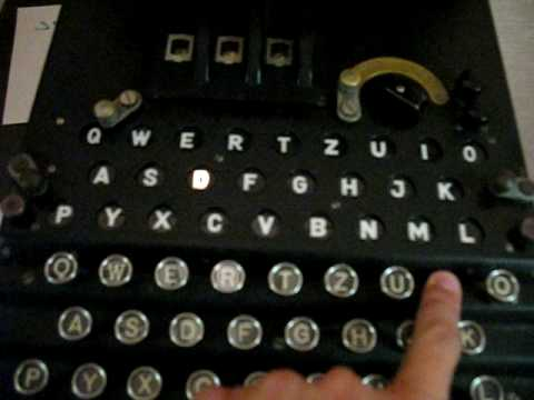 Operating a German Enigma Machine