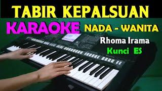 Download lagu TABIR KEPALSUAN - Rhoma Irama | KARAOKE Nada Cewek / Wanita, HD