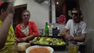 Застолье пьянка с невестой Алёной питьё гулянка снами Людмила и Батя