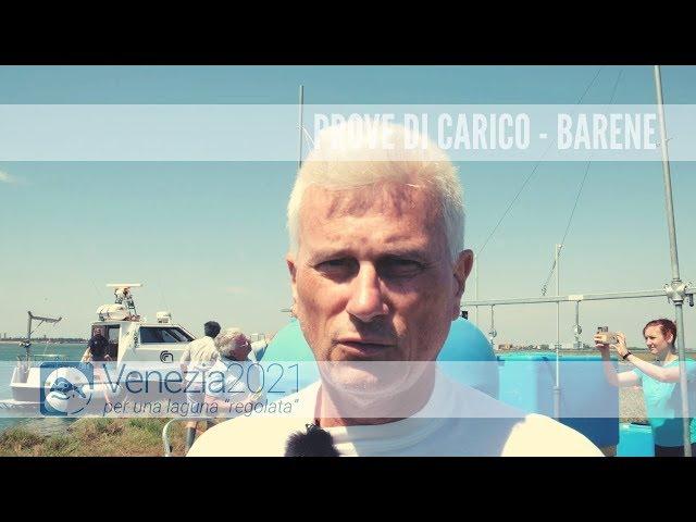 Prova di carico per determinare la compattazione della barena - Venezia2021