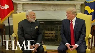 President Trump Discusses Fighting Terrorism With Indian Prime Minister Narendra Modi   TIME