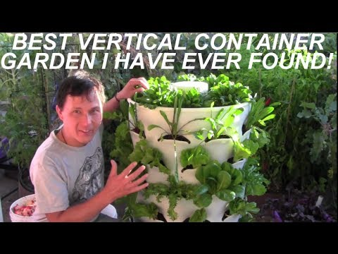 Grow 53 Plants in 4 Sq Ft with a Garden Tower Vertical Conta