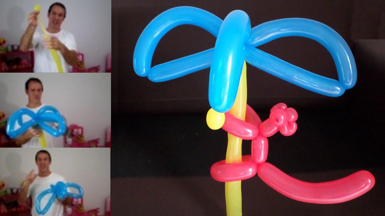 Como hacer una palmera con globos largos globoflexia - Como hacer una palmera artificial ...