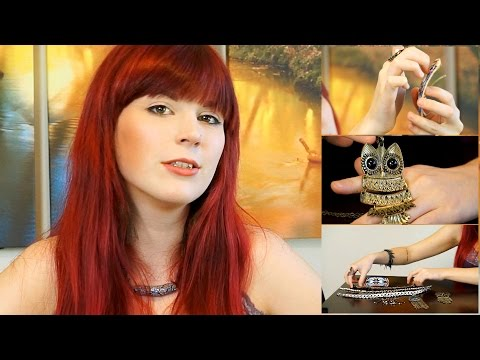 ASMR Jewelry Sounds Tingle Triggers, Show & Tell Corey Kay Collection Haul 3D Binaural