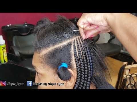 Two Layer Feed In Braids-Watch Me Work