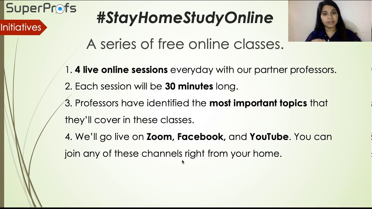 Stayhomestudyonline Free Live Online Classes For Ca Cs And Cma - Online Classes Youtube