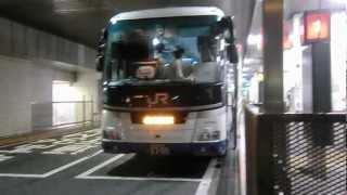 夜行高速バス「ファンタジアなごや号(JR東海バス車)」YCAT到着