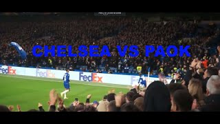 First chelsea goal for Hudson Odoi Chelsea vs PAOK  VLOG