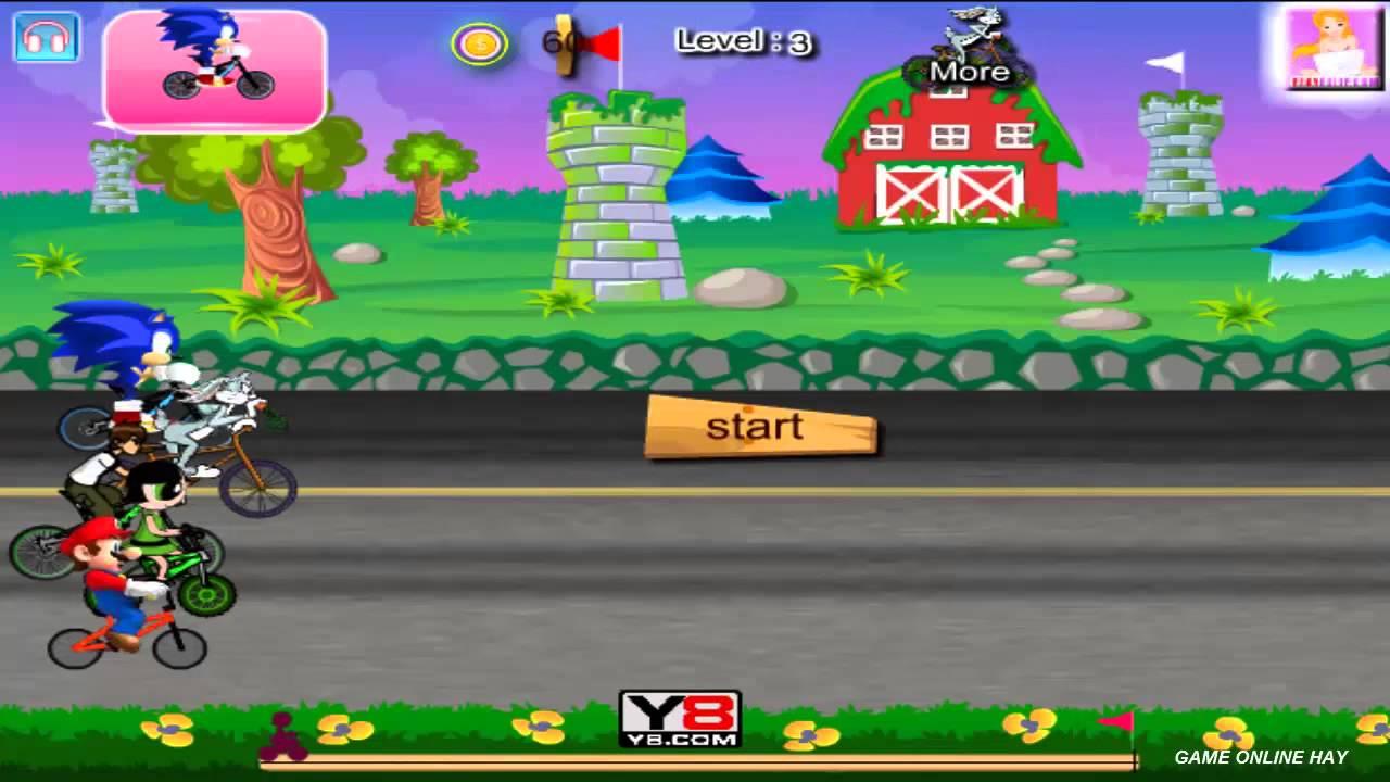 Game hoạt hình đua xe vui nhộn - Game vui 24h