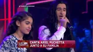 """""""Mi primavera"""", Ariel Pucheta canta junto a su familia - Laten Corazones"""