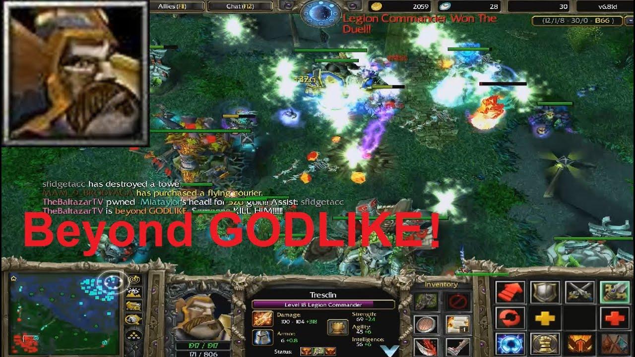 DotA 6.81d - Legion Commander Beyond GODLIKE ! | Doovi  Legion Commander Dota 1