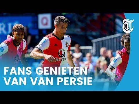 Feyenoord-fans genieten van Van Persie op eerste training