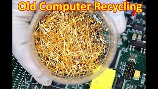 Repeat youtube video Getting gold from CPUs pcb computers Recycling gold Circuit boards pin connectors cpu computer part.