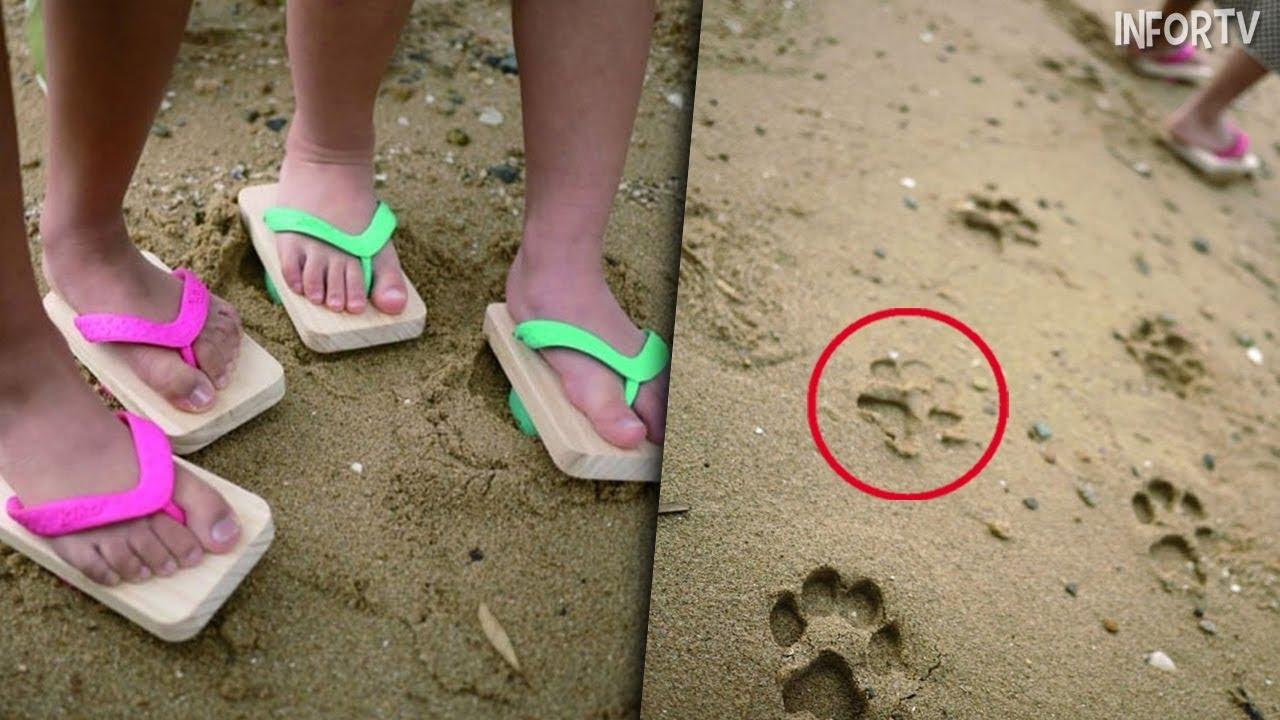 Sandalias Quedas Sorprendido Parecen Pie Levantan El Pero Cuando Normales CxdoerB