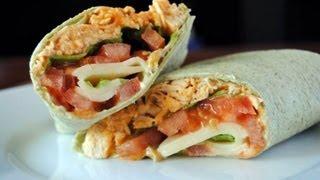Buffalo Chicken Wraps Recipe - How To Make Chicken Wraps With Buffalo Sauce - Sweetysalado.com